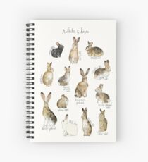 Rabbits & Hares Spiral Notebook