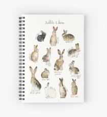 Rabbits & Hares Spiral Notebook