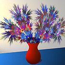 Vase of fractal flowers by 4Flexiway