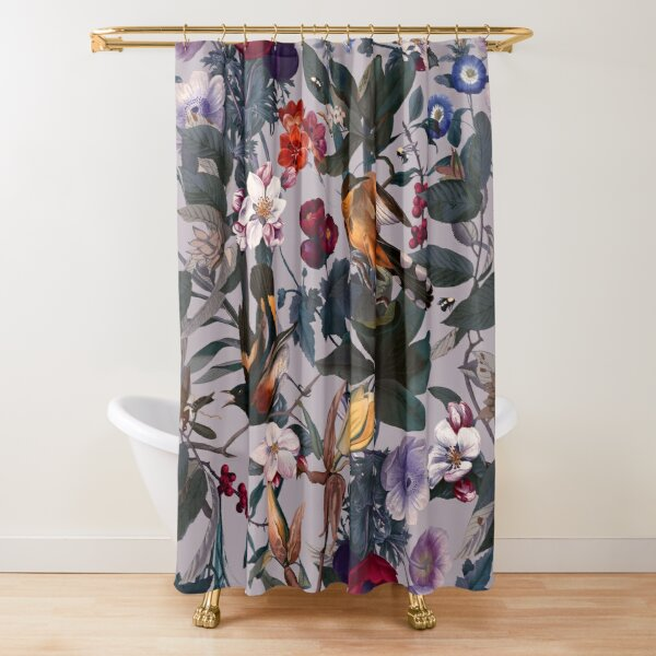 Floral and Birds XL Shower Curtain