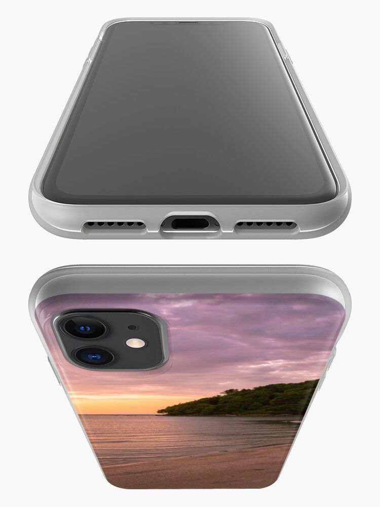 Alternate view of Tropical island and paradise beach at sunset iPhone Case & Cover