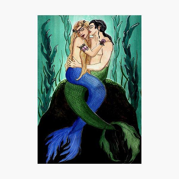 Devocean - Mermaid Fantasy Art Photographic Print