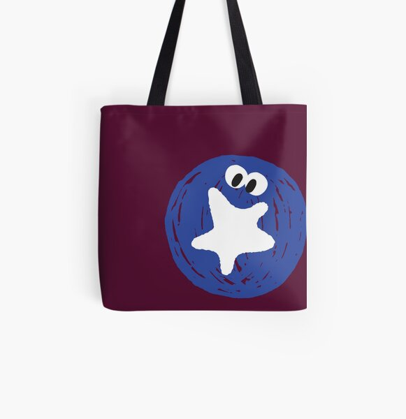Cute Fruits - Blueberry All Over Print Tote Bag
