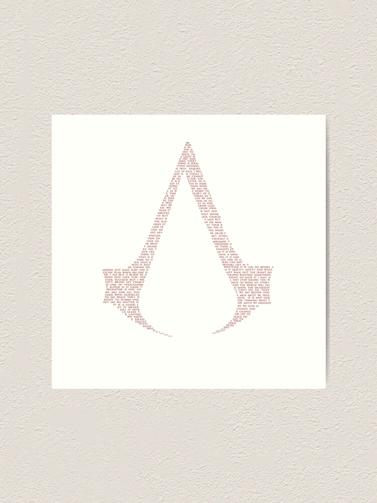 Assassin S Creed Quotes Red Art Print By Pen In Hand Redbubble