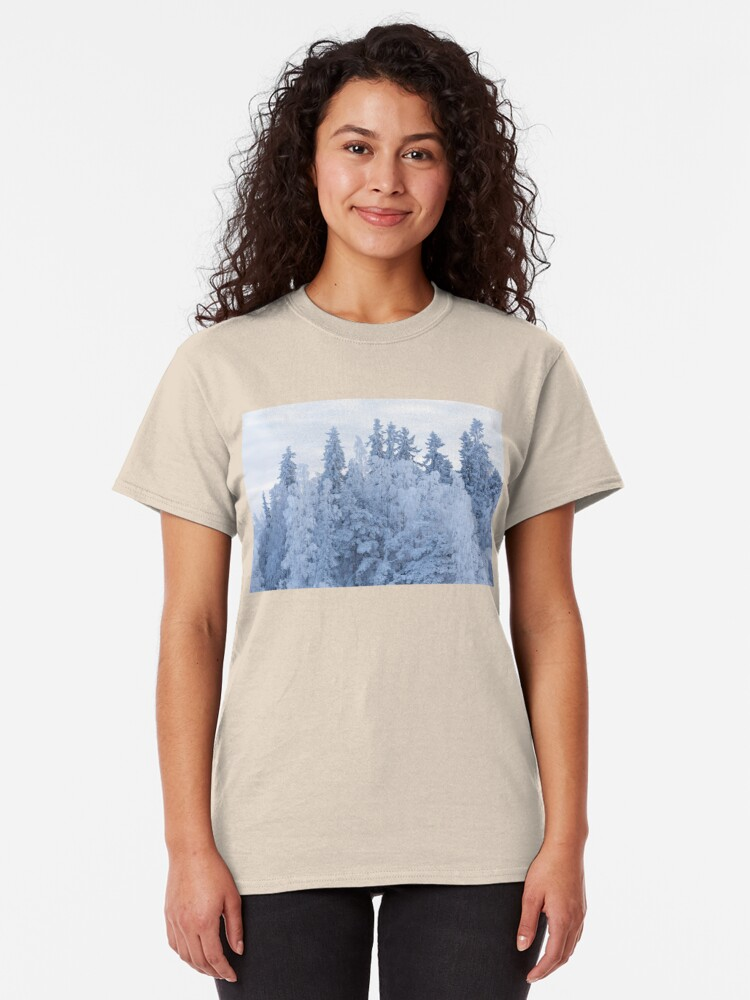 Alternate view of Trees covered in snow Classic T-Shirt