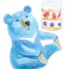 Blue Bear with Sweet by RagAragno