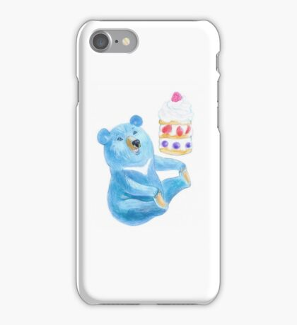 Blue Bear with Sweet iPhone Case/Skin