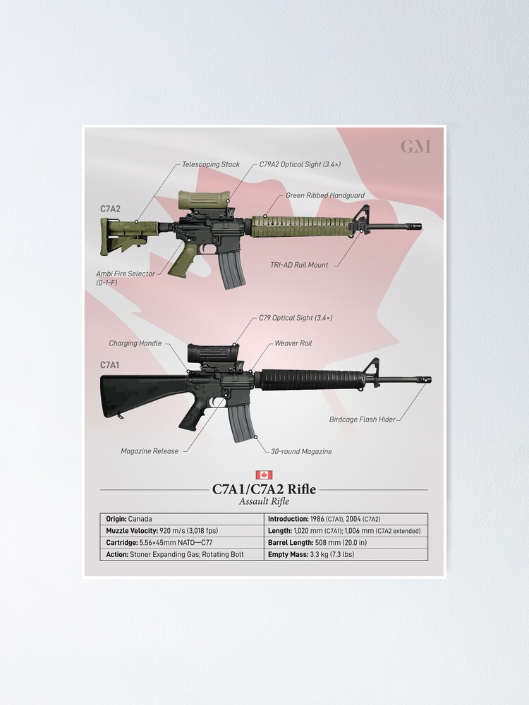 Alternate view of C7A2/C7A1 - Canada's Service Rifle Poster