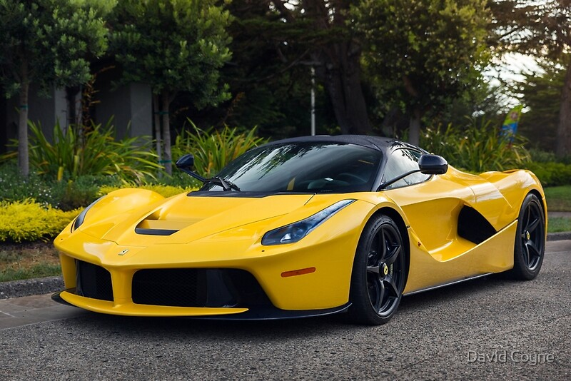 Yellow Ferrari LaFerrari\