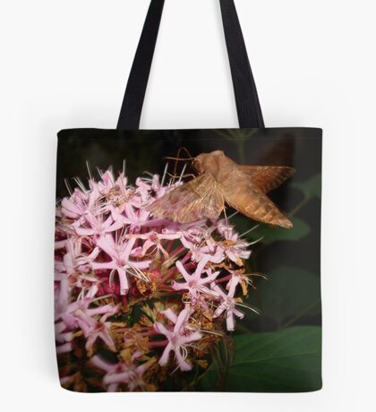Hummingbird Moth in Clerodendrum Tote Bag
