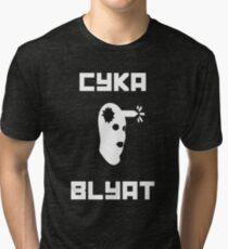 Cyka Blyat CSGO Tri-blend T-Shirt