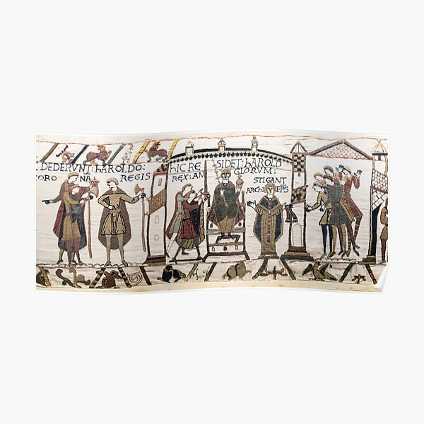 Coronation of Harold (Bayeux Tapestry) Poster