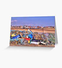Fishing Debris on The Pier Greeting Card