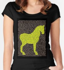 """""""The Year Of The Horse"""" Clothing Women's Fitted Scoop T-Shirt"""