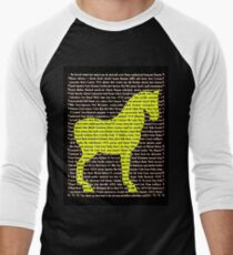 """""""The Year Of The Horse"""" Clothing Men's Baseball ¾ T-Shirt"""