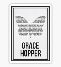 GRACE HOPPER - Women in Science Wall Art Sticker