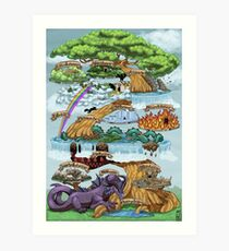 YGGDRASILL - The Nine Worlds Art Print