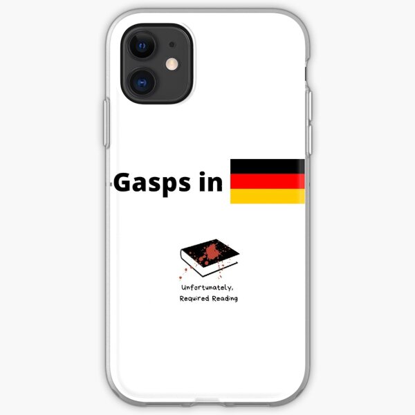Gasps in German  iPhone Soft Case