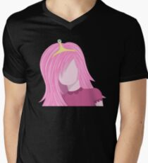 Camiseta de cuello en V dulce princesa
