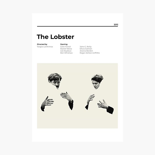 The Lobster - Minimalist Movie Poster - Yorgos Lanthimos Photographic Print