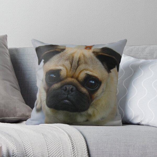 Puggin  Throw Pillow