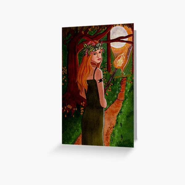 Come To The Beltane Fire - Witch Art Greeting Card
