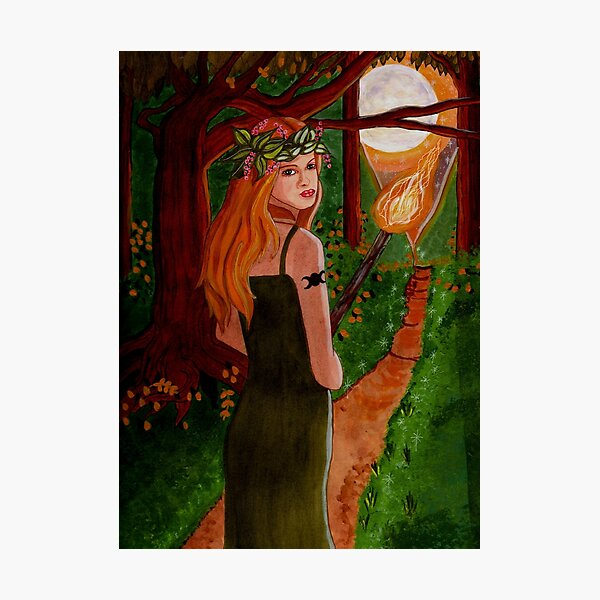 Come To The Beltane Fire - Witch Art Photographic Print