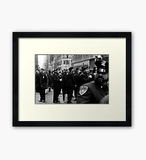 NYC Cops Framed Print