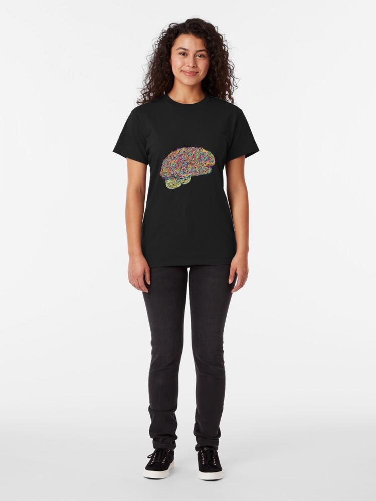 Alternate view of Jackson Pollock's Brain Classic T-Shirt