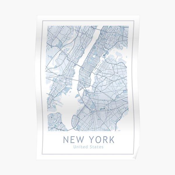 New York City Map, USA City, NYC Poster
