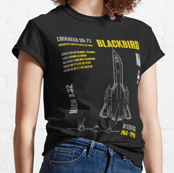 Lockheed SR-71 Blackbird Military Aircraft Classic T-Shirt