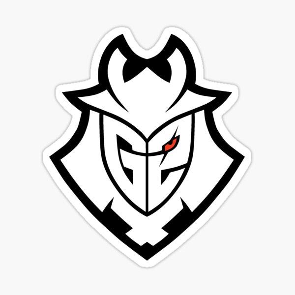 Logo blanco G2 Pegatina