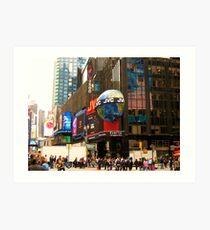 Entering Times Square Art Print