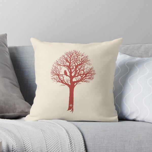 Owl Tree  Throw Pillow
