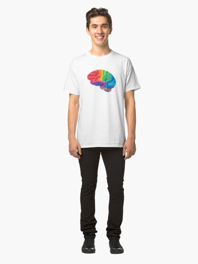 Alternate view of Word Cloud Brain Classic T-Shirt