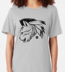 Last of the Meowhicans Slim Fit T-Shirt