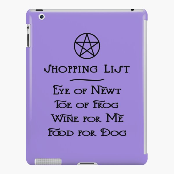 Witch's Shopping List Wine and Dog Food Cheeky Witch® iPad Snap Case