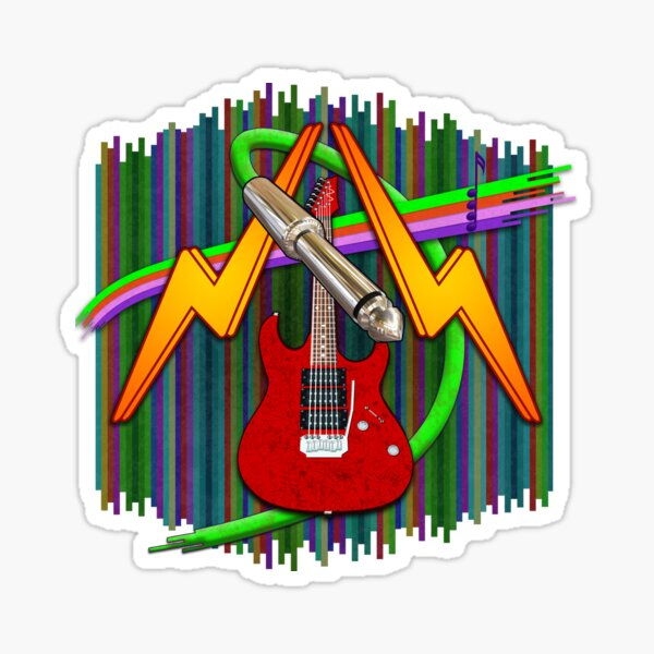 Electric Guitar Plug Mania Sticker