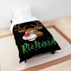 Richard Funny Xmas Deer for Christmas Comforter