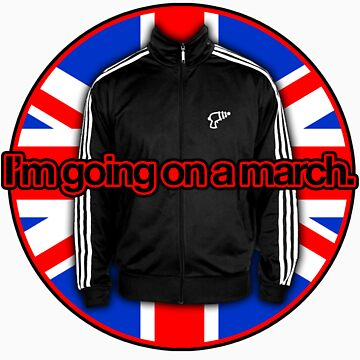 I'm going on a march - UK Flag by alexvegas
