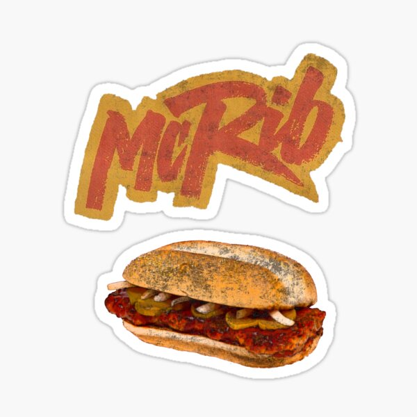 The McRib Is Back! Sticker