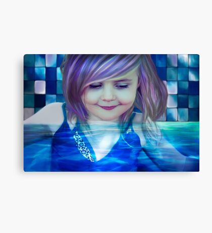 raspberry drink made her head swim Canvas Print