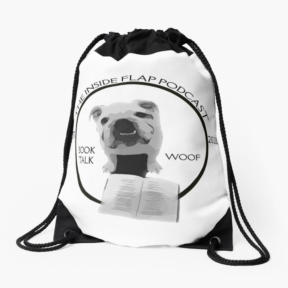 The Inside Flap Podcast Drawstring Bag