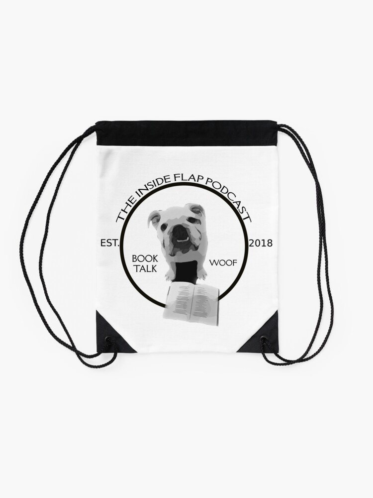 Alternate view of The Inside Flap Podcast Drawstring Bag