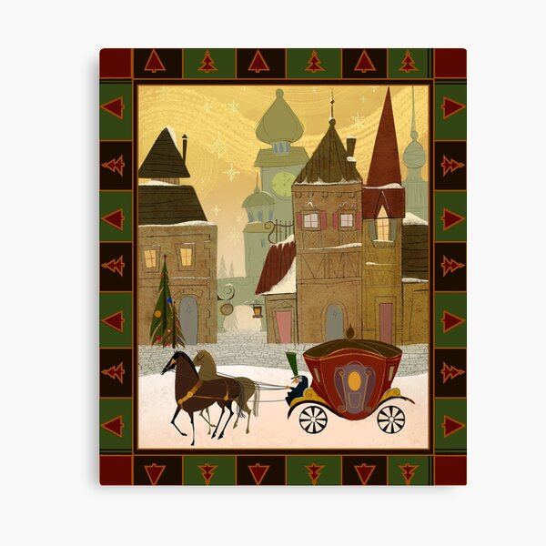 Christmas in the Old World Canvas Print