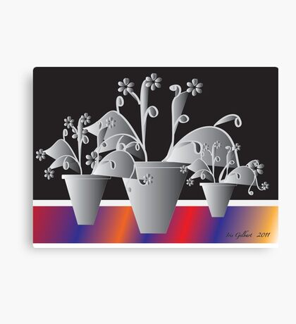 Another Pot of Flowers Canvas Print