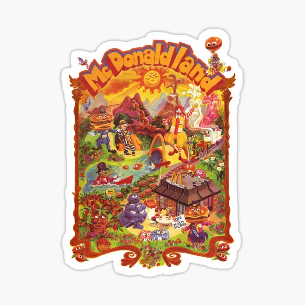 McDonaldland In The 70s! Sticker