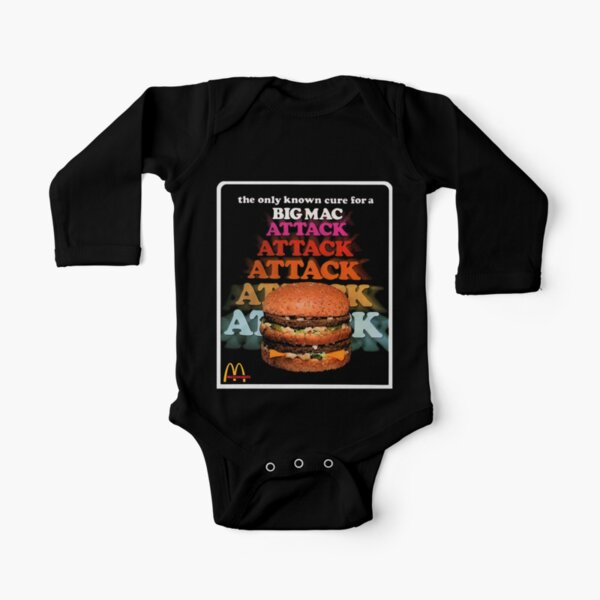 Big Mac Attack Long Sleeve Baby One-Piece