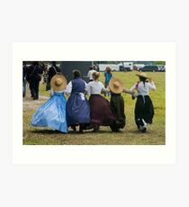Hoop skirts Art Print