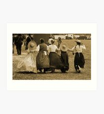 Hoop skirts in Sepia Art Print